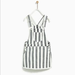 Zara Girls striped skirt overalls- NWOT sz 7